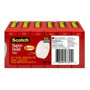 Scotch Super-Hold Tape, 3/4 in. x 800 in. per Roll, 6 Rolls