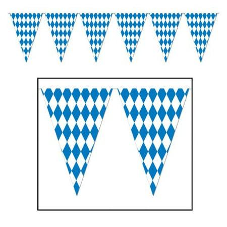Oktoberfest Banner (Beistle 120 Foot Oktoberfest Bavarian Check Flag Pennant)