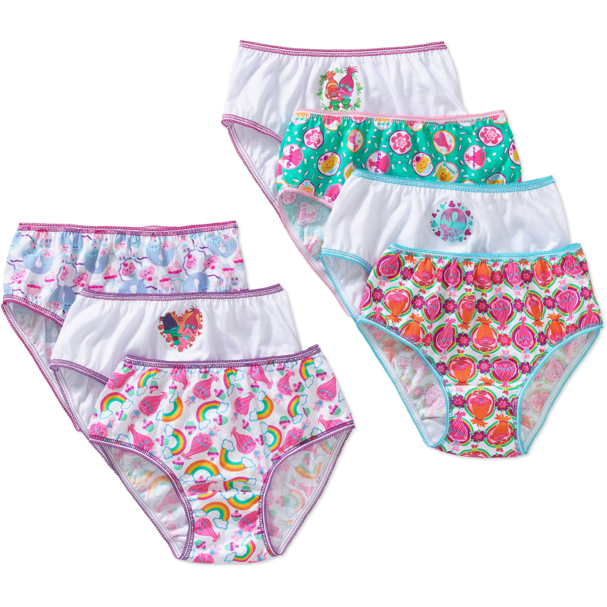 Trolls Girls' Underwear 7 Pack