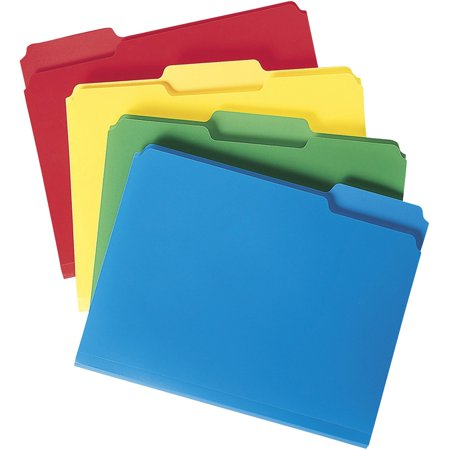 Smead Poly File Folders, 1/3 Tab, Assorted Colors, Letter Size, - Privacy Folders