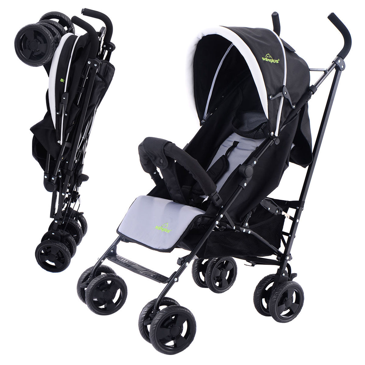 Costway Foldable Baby Stroller Buggy Kids Jogger Travel Infant Pushchair Lightweight