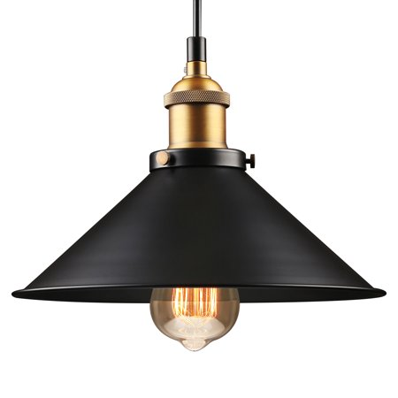 LEONLITE Industrial Hanging Pendant Light, LED Pendant Lighting for Dining Room, Bars, Warehouse, E26 Base ()