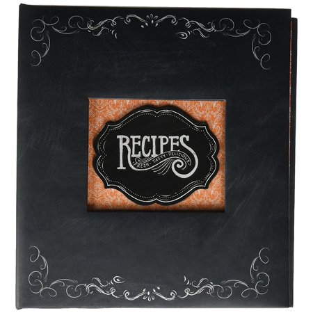 recipe book durable 3 ring binder holds 40 recipe cards measuring