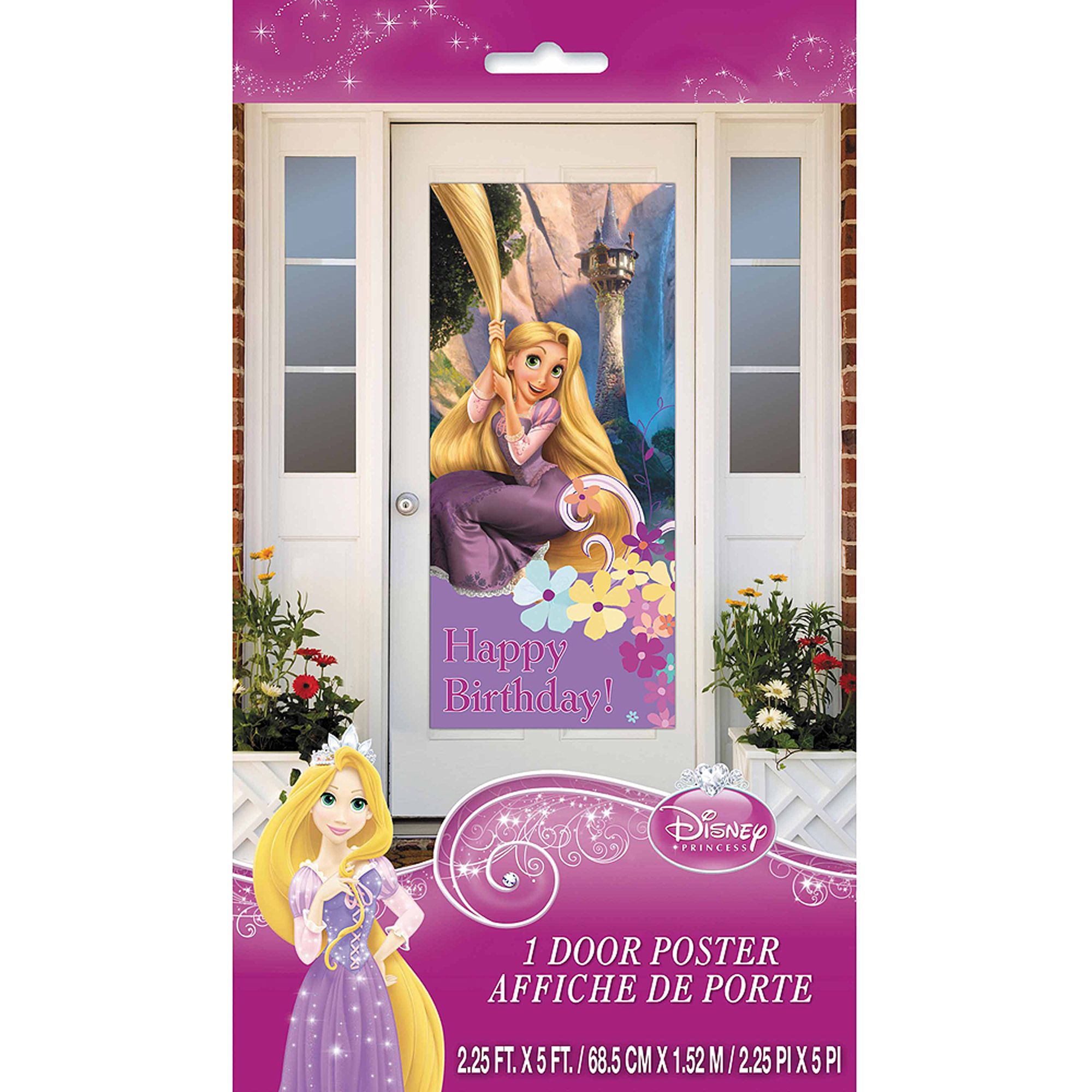 "Plastic Disney Tangled Door Poster, 60"" x 27"""