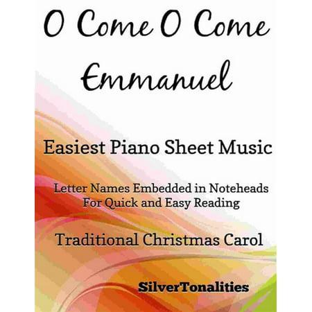 O Come O Come Emmanuel Easiest Piano Sheet Music -