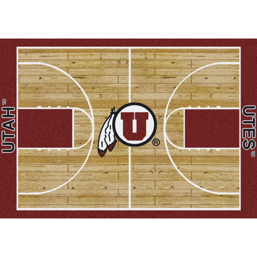 Milliken Ncaa College Home Court Area Rugs - Contemporary 01452 Ncaa College Basketball Sports Novelty Rug