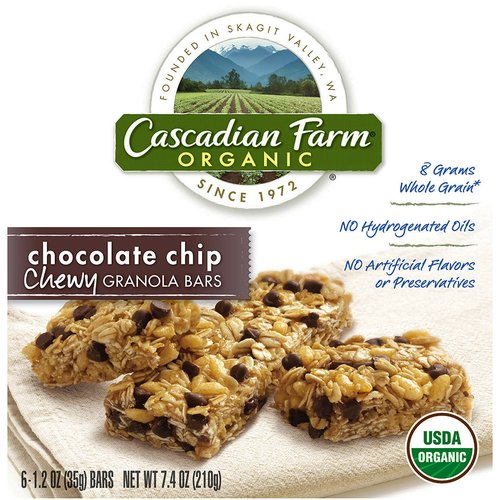 Cascadian Farm Chocolate Chip Organic Chewy Granola Bars, 7.4 oz