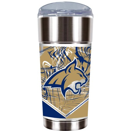 Ncaa Montana State Bobcats  The Eagle  24 Oz Vacuum Insulated Stainless Steel Party Cup