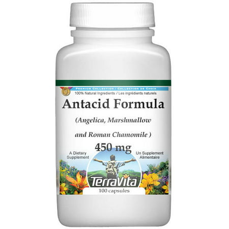 Angelica Formula - Antacid Formula - Angelica, Marshmallow and Roman Chamomile - 450 mg (100 capsules, ZIN: 511985)