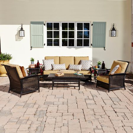 Catalina 6 Piece Aluminum Patio Deep Seating Conversation Set W/ Sofa & 2 Club Chairs By Coyote Outdoor Living Gretsch Catalina Club