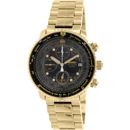 Seiko Mens SNA414 Gold Stainless-Steel Quartz Watch by