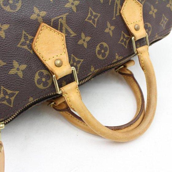 5a3acd8dce Louis Vuitton - Speedy 30 866197 Brown Monogram Canvas Satchel ...