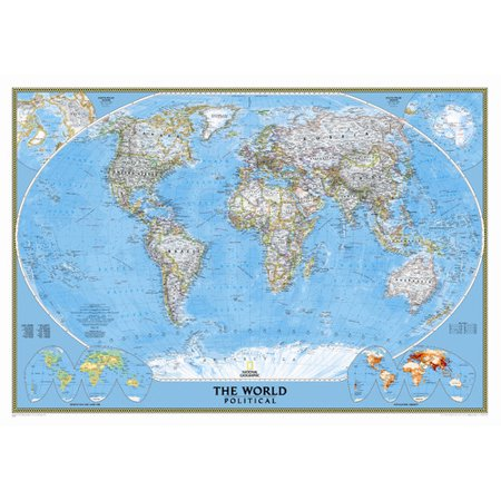 National Geographic Maps World Classic Wall Map