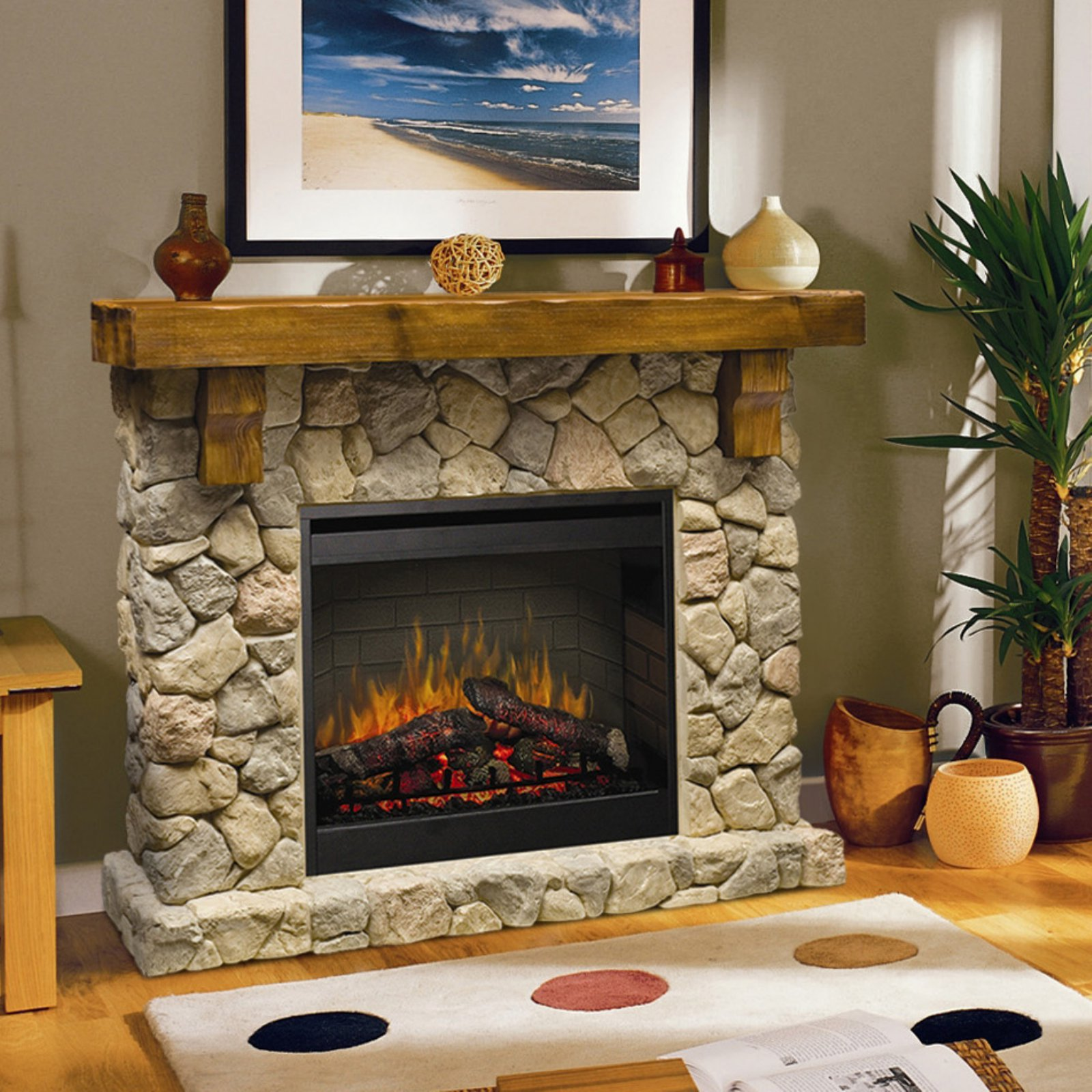 Dimplex Fieldstone Electric Fireplace Walmart