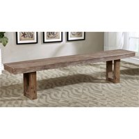 Furniture of America Carmella Country Kitchen Bench in Natural Tone