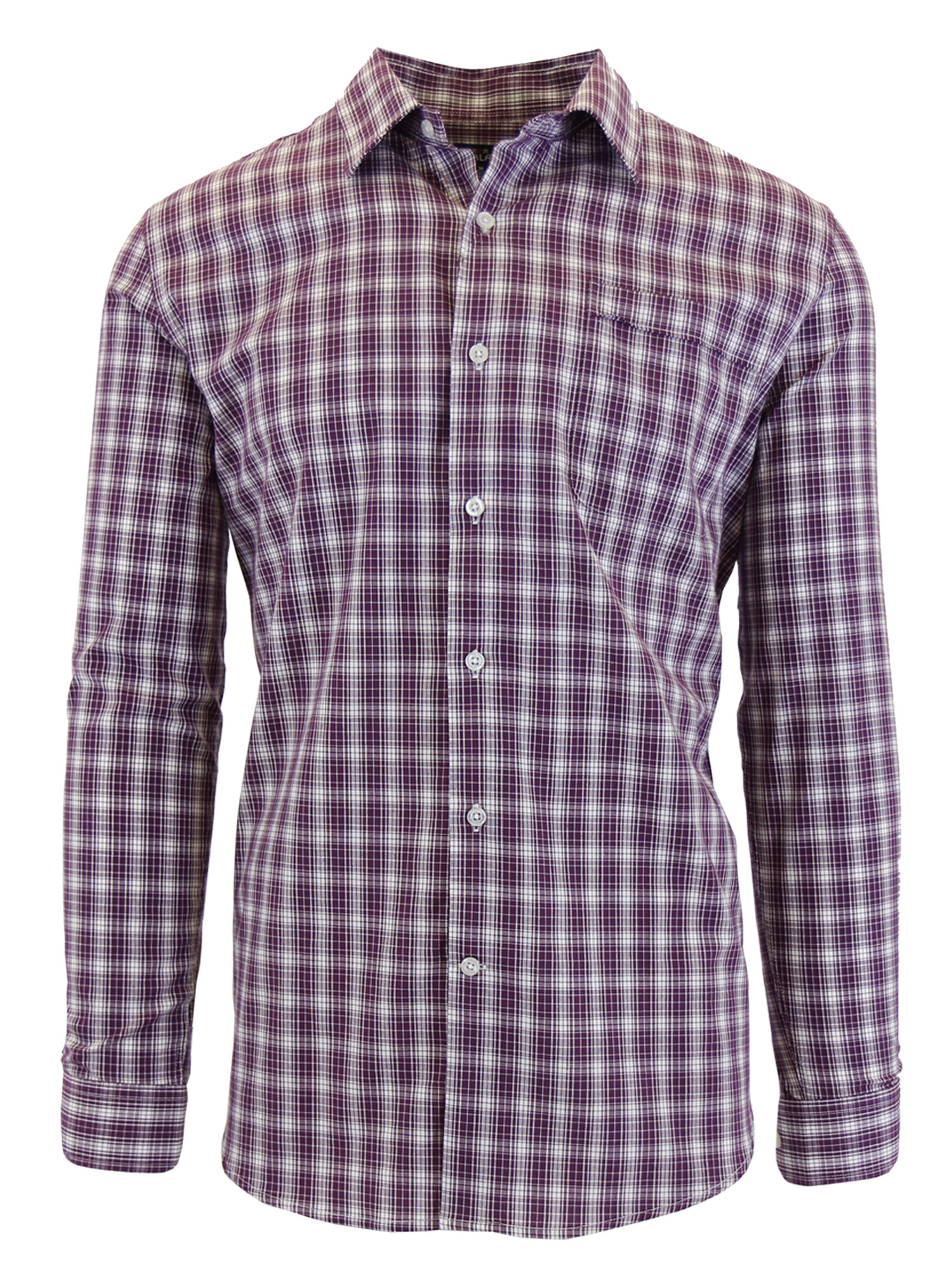 Men's Long Sleeve Printed Dress Shirt With Chest Pocket