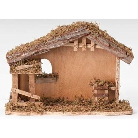 Fontanini Italian Wood Christmas Nativity Stable 54628 New