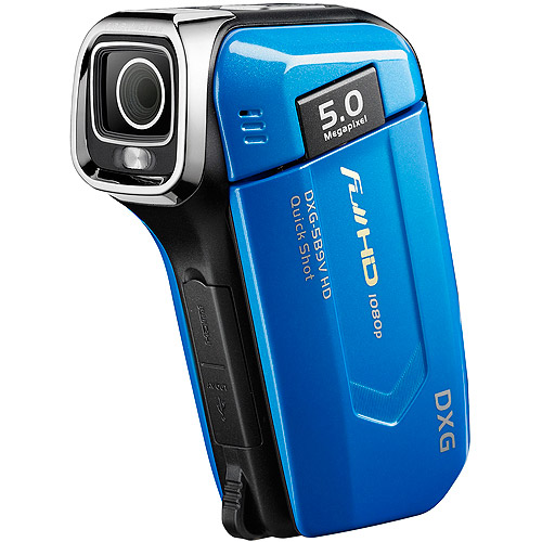 "DXG QuickShots DXG-5B9VB Blue HD Camcorder, 2.4"" LCD Display"