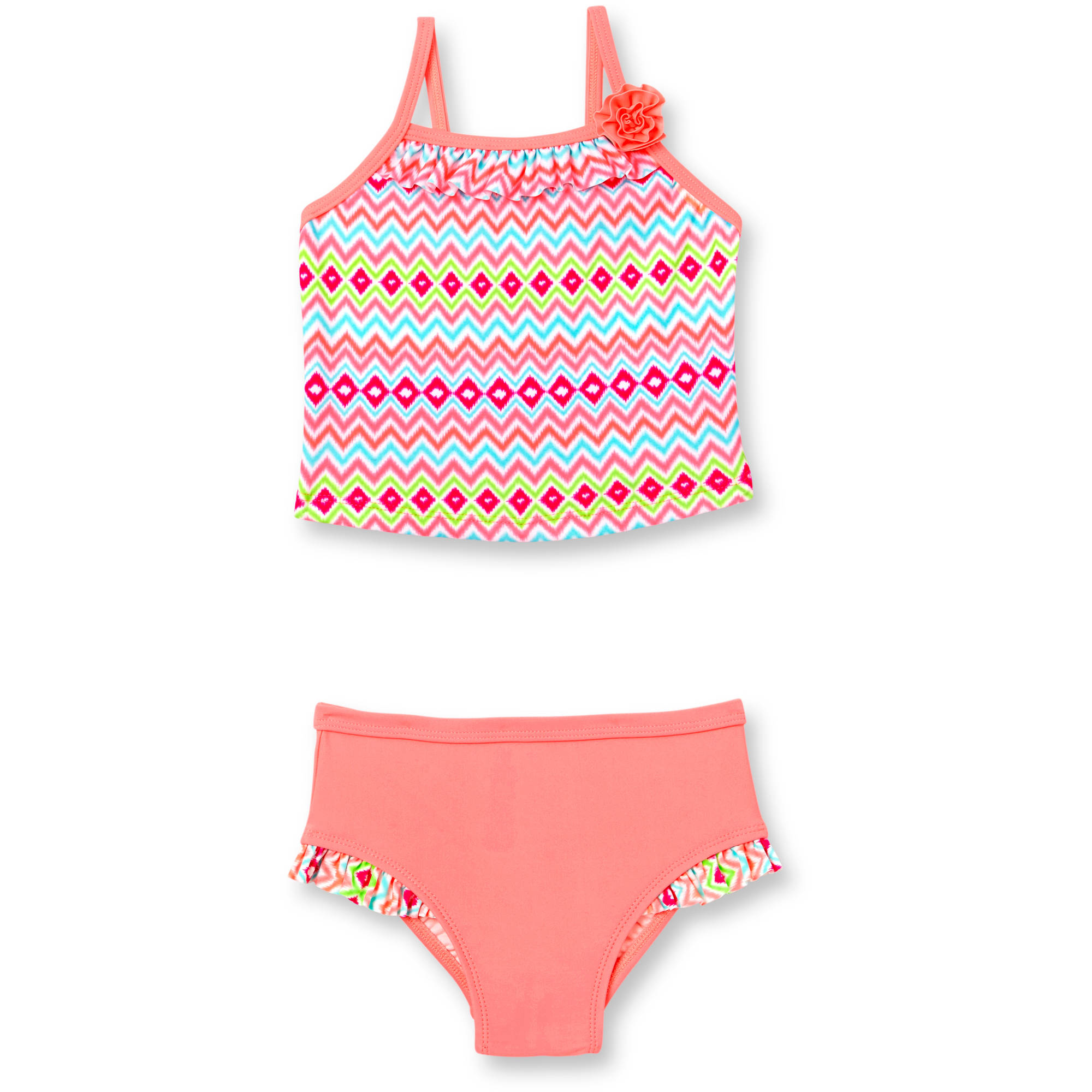 Op Toddler Girl Kaya Stripe Ikat Tankini Swimsuit