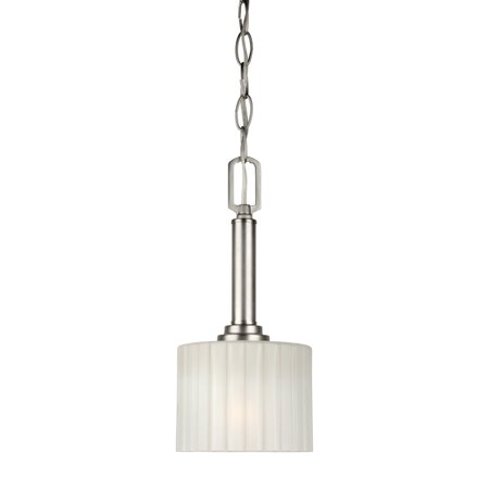 Forte Lighting Nickel Pendant - Forte 2695-01-55 1 Light Mini Pendant in Brushed Nickel