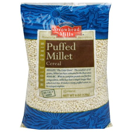 Arrowhead Mills Puffed Millet Cereal, No Salt Added, 6 (Cereals With No Added Sugar Or Salt)