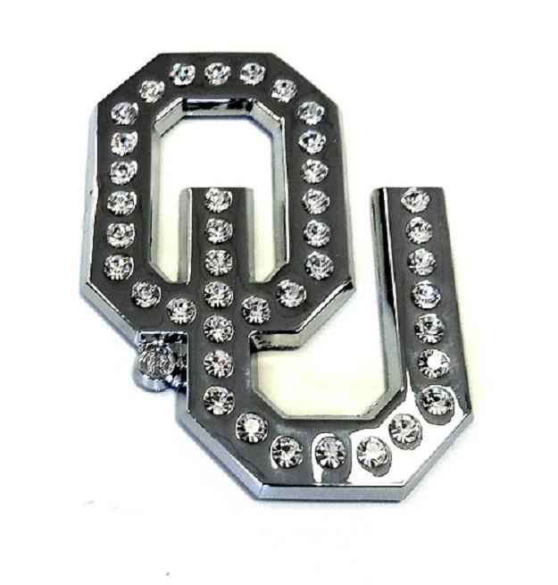 Oklahoma Sooners Crystal Premium Metal Auto Emblem Decal
