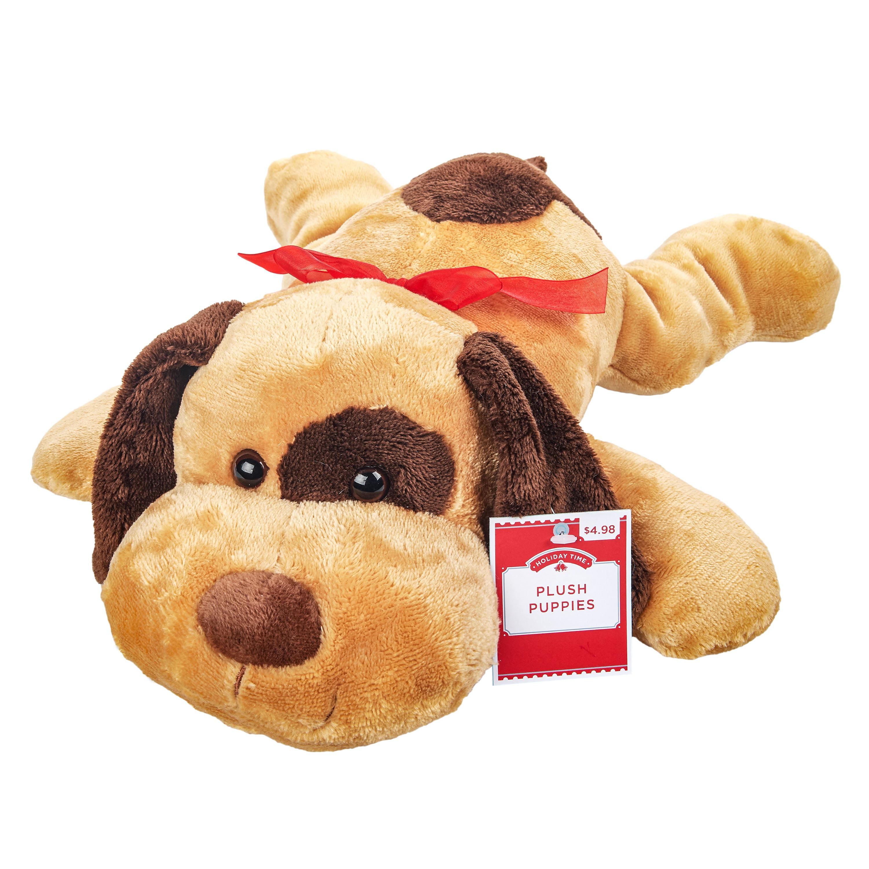 Blue Big Teddy Bear, Hug Fun Floppy Brown Puppy Dog Cuddle Pillow Plush Pal 16 Stuffed Animal Walmart Com Walmart Com