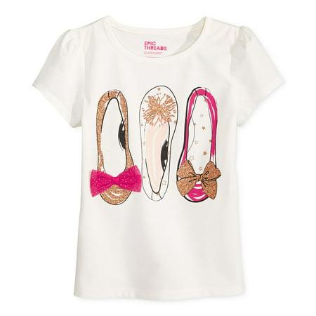 3eb9e98b9 Epic Threads - Epic Threads Baby Girls Graphic T-Shirt Tee Shirt (2T/2,  Ivory) - Walmart.com