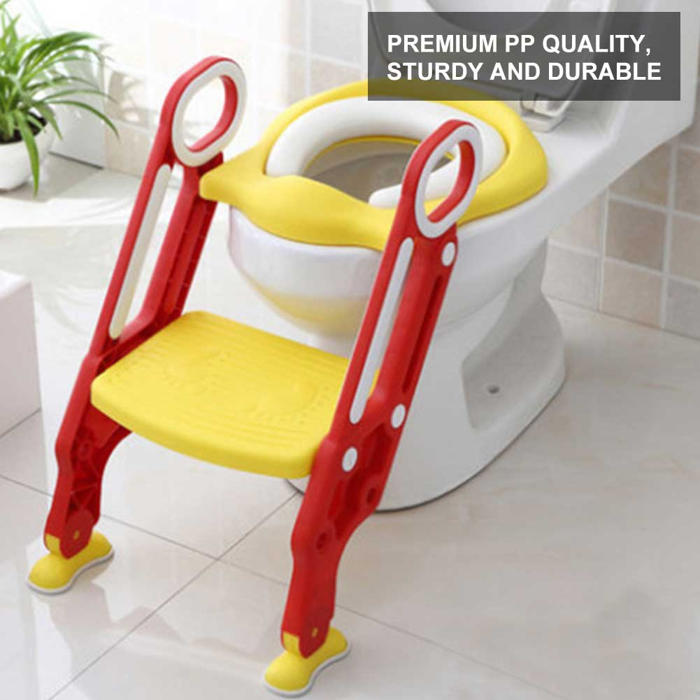 Potty Chair,Fosa Portable Baby Toddler Soft Toilet Chair Ladder Kids Adjustable Safety Potty Training Seat,Toddlers Potty Seats