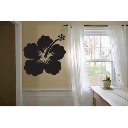0f021fb767b091 Custom Wall Decal Sticker   Hibiscus Flower Plant Decoration 12x18 Inches -  Walmart.com