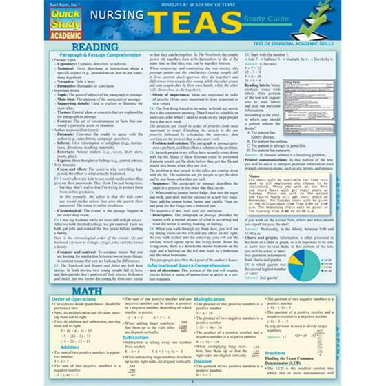BarCharts 9781423225959 Nursing Teas Guide Quickstudy Easel