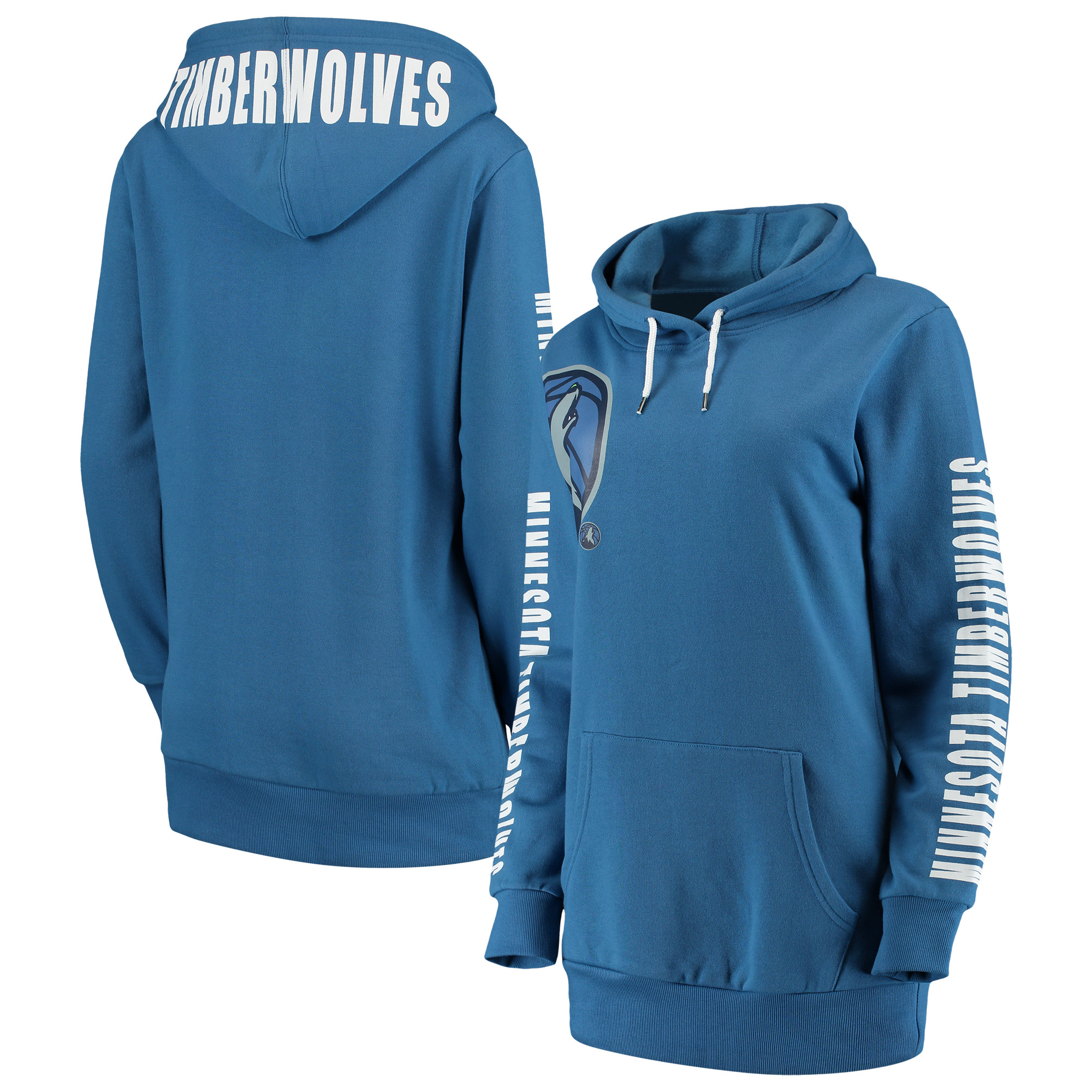 Minnesota Timberwolves G-III 4Her by Carl Banks Women's Overtime Pullover Hoodie - Blue