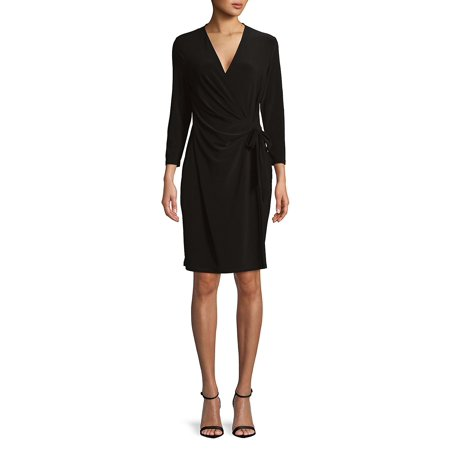 Classic Wrap Dress Anne Klein Black Dress