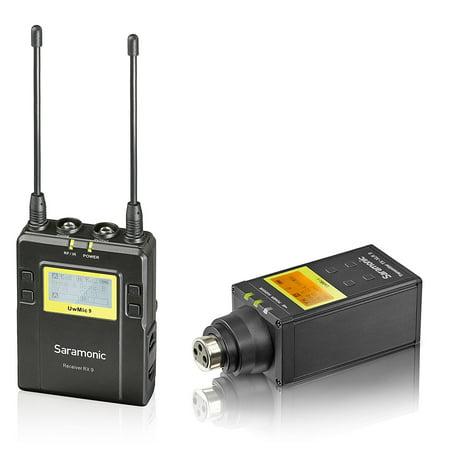 Saramonic UWMIC9 UHF Wireless XLR Microphone System with XLR Plug-in (Wireless Uhf Xlr Plug)