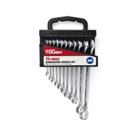 Hyper Tough 11-Piece Combination Wrench Set, MM