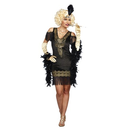 1920's Costumes Halloween (Dreamgirl Women's 1920's Swanky Flapper)