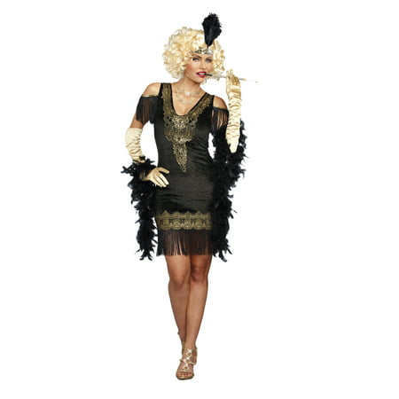 Dreamgirl Women's 1920's Swanky Flapper Costume - 1920s Prohibition Costume