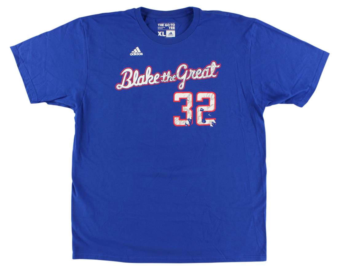 Adidas Mens Los Angeles Clippers NBA Blake Griffin Nickname T Shirt Royal Blue by Adidas