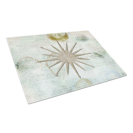 Caroline's Treasures Shells Navagation Star Glass Cutting Board Large ()