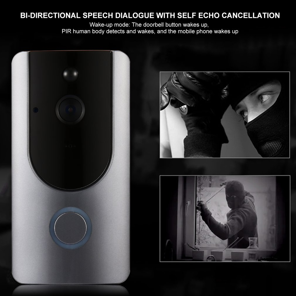 Wireless Video Doorbell WIFI Remote Intercom Detection Electronic HD Visible Monitor Night Vision Intelligent Doorbell
