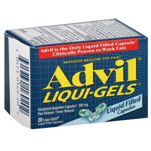 Advil Fast and Effective Pain Relief Liquigels, 20 CT (Pack of 6)