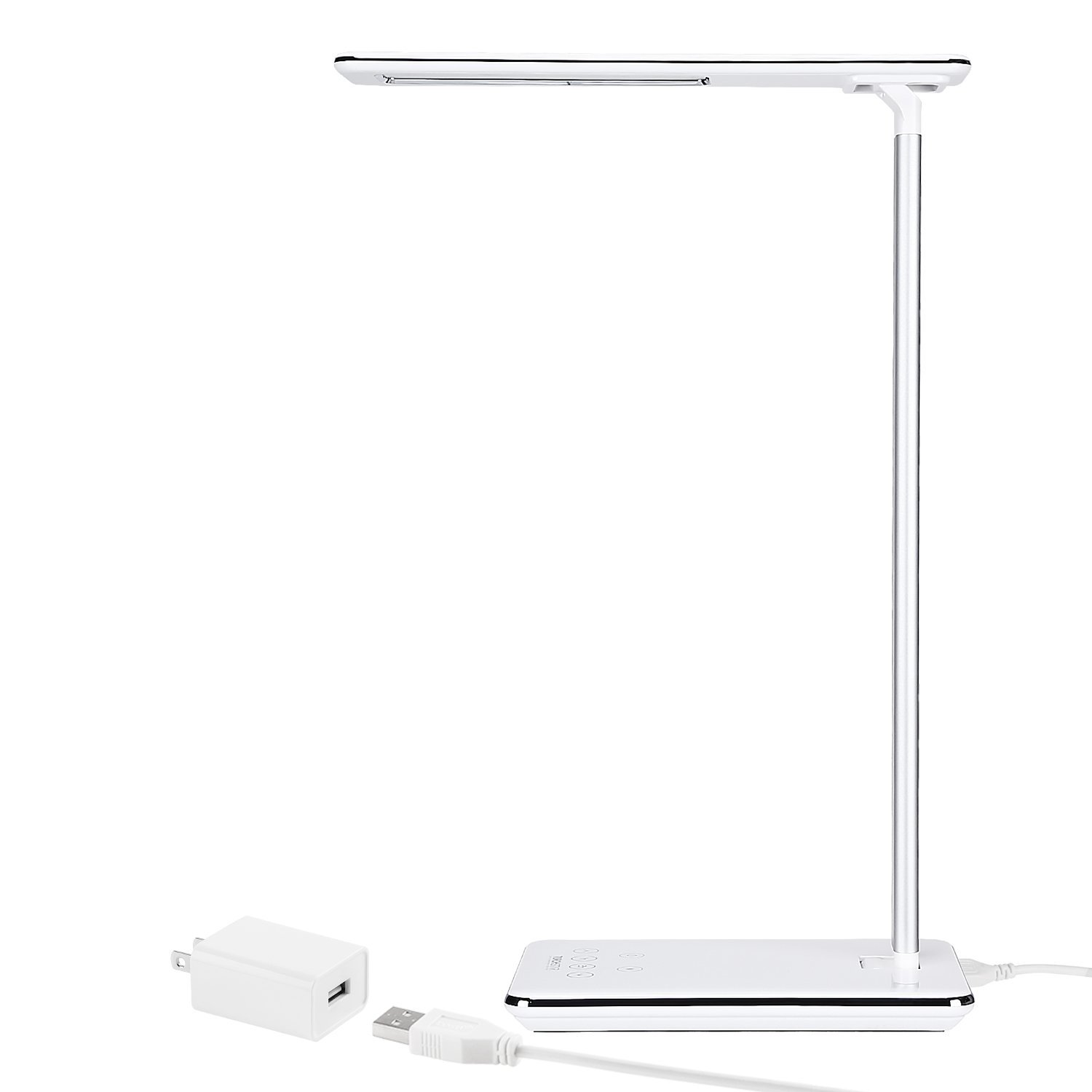 Torchstar Dimmable Led Desk Lamp, 4 Lighting Modes (Reading/Studying/Relaxation/Bedtime), Fully Adjustable Brightness, Touch Sensitive Control, Usb Charging Port, 1 & 2 Hour Auto Timer, Piano White by Torch Star