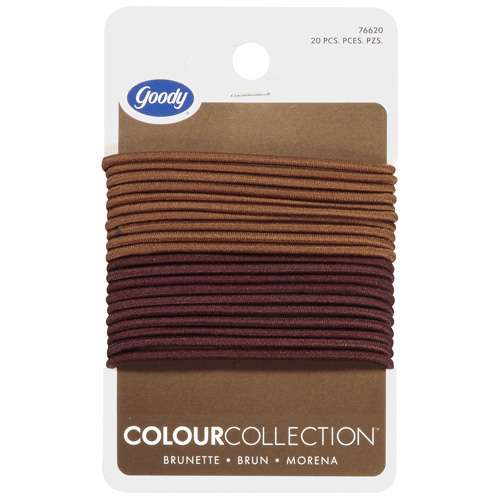 goody thin light brown brown hair elastics walmart