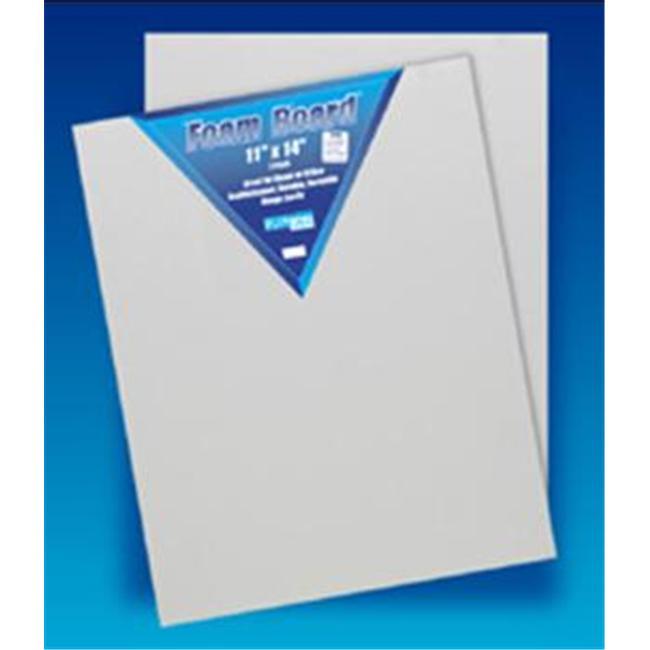 Flipside 11142 - Three-Sixteenth White Foam Board - 2 Pack - 11 X 14 - Case Of 12