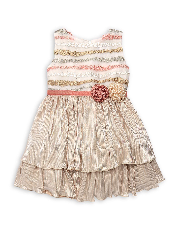 Little Girl's Isla Embellished Tiered Dress