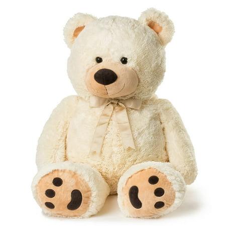 Joon Huge Teddy Bear With Ribbon  Cream