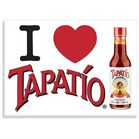 ,I LOVE TAPATIO, Officially Licensed Tapatio Hot Sauce Brand, Heavy Duty Magnet Material- 2.5