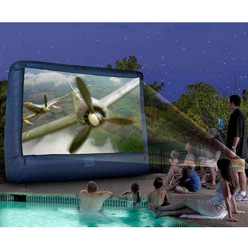 Airblown Outdoor Inflatable 12ft Diagonal Movie Screen for a Backyard Theater