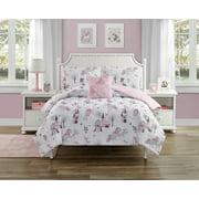 Princess Unicorn 3 Piece Comforter Set with décor pillow Twin
