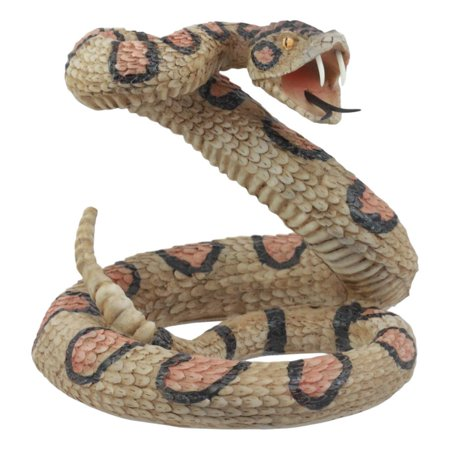 Ebros Lifelike Diamondback Rattlesnake Statue 6